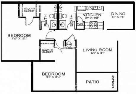 Br 2 bedroom floorplan