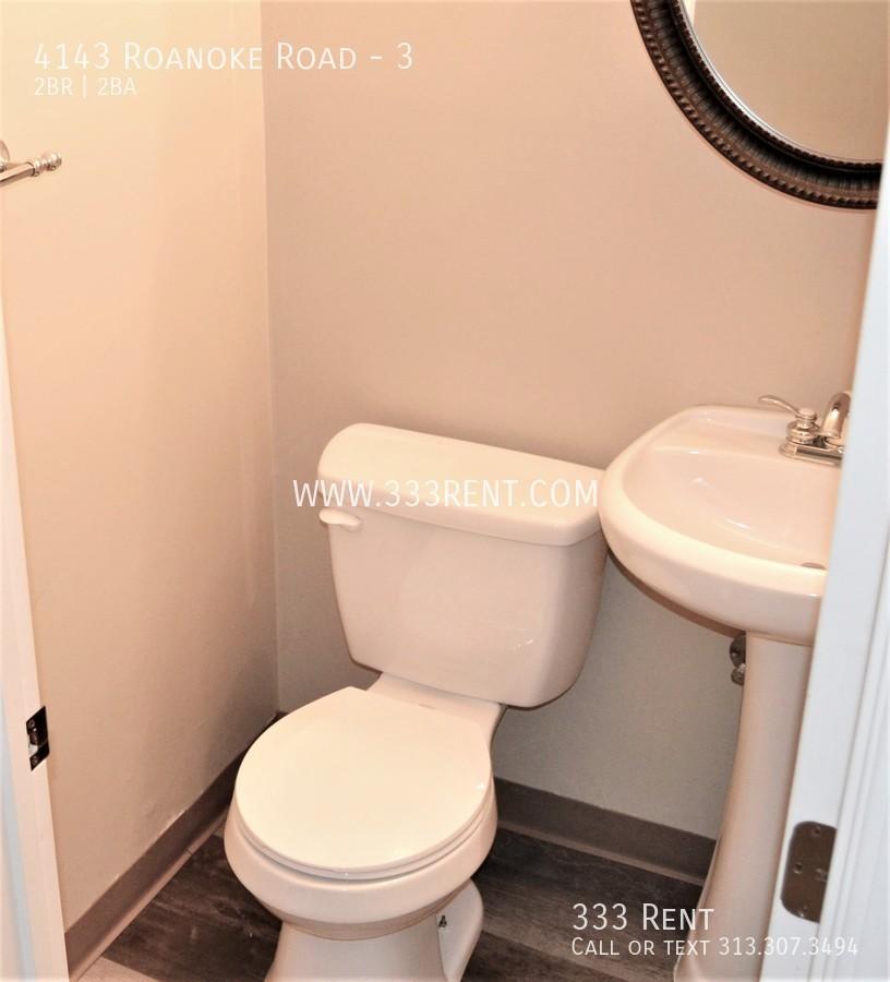 2half bathroom