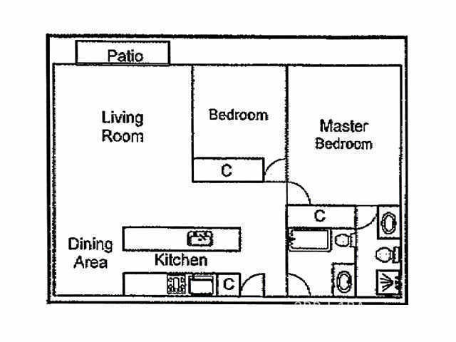 2 bdr floorplan