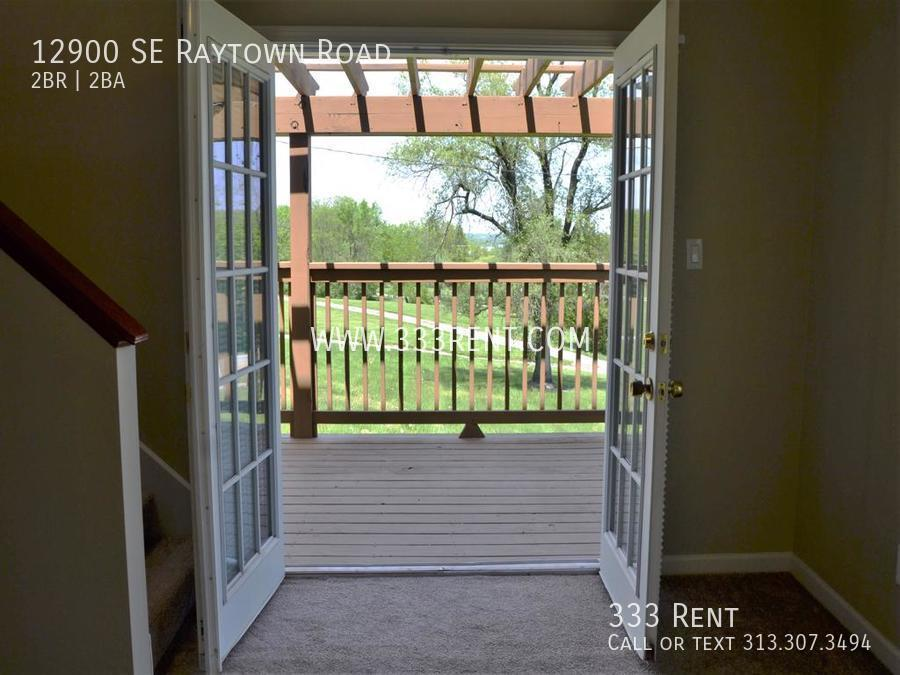 3french door view of lake