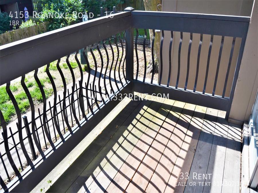 11private balcony