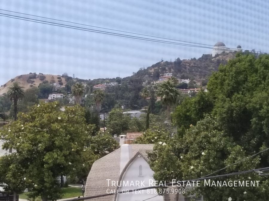 17 view of griffith park from window