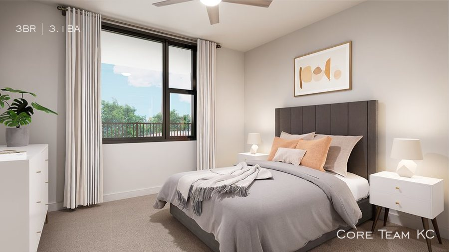 Townhome   bed