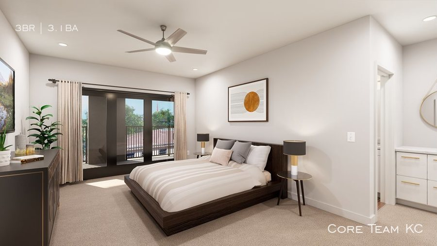 Townhome   master bed