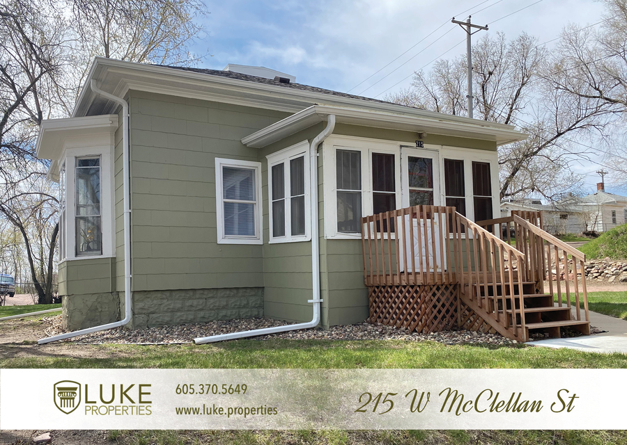 Luke properties 215 w mcclellan st sioux falls home for rent