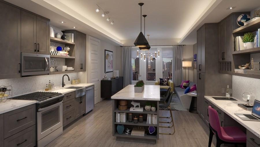 Thehamilton dallas deepellum 17067 one bedroom kitchenview 1br