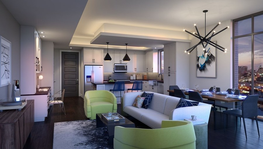 Thehamilton dallas deepellum 17067  two bedrooms kitchenview 2br a02 hr04