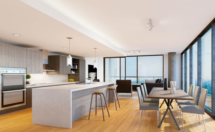 The residences gallery kitchen living