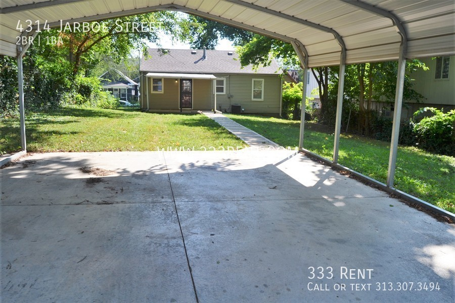 8carport and back of house