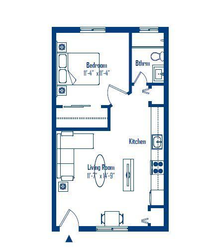 150 s clarkson floor plan b