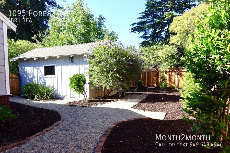 Backyard   between house and garage