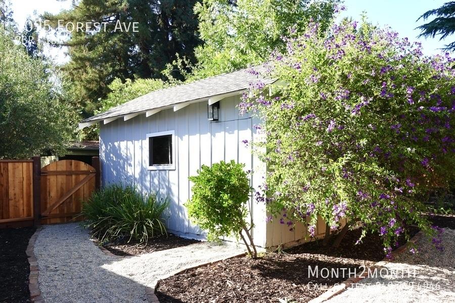 Garage   backyard view