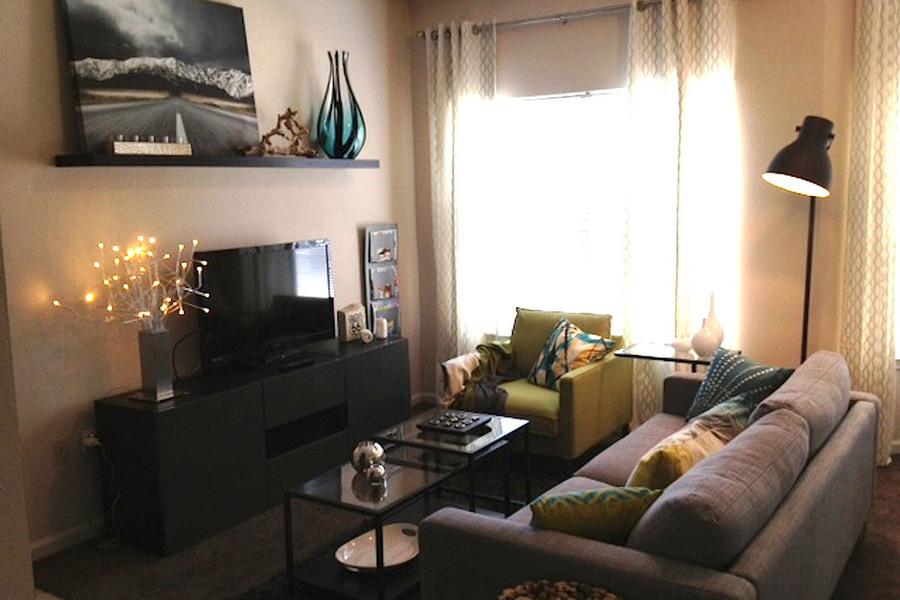 Dakota 2 bed living room