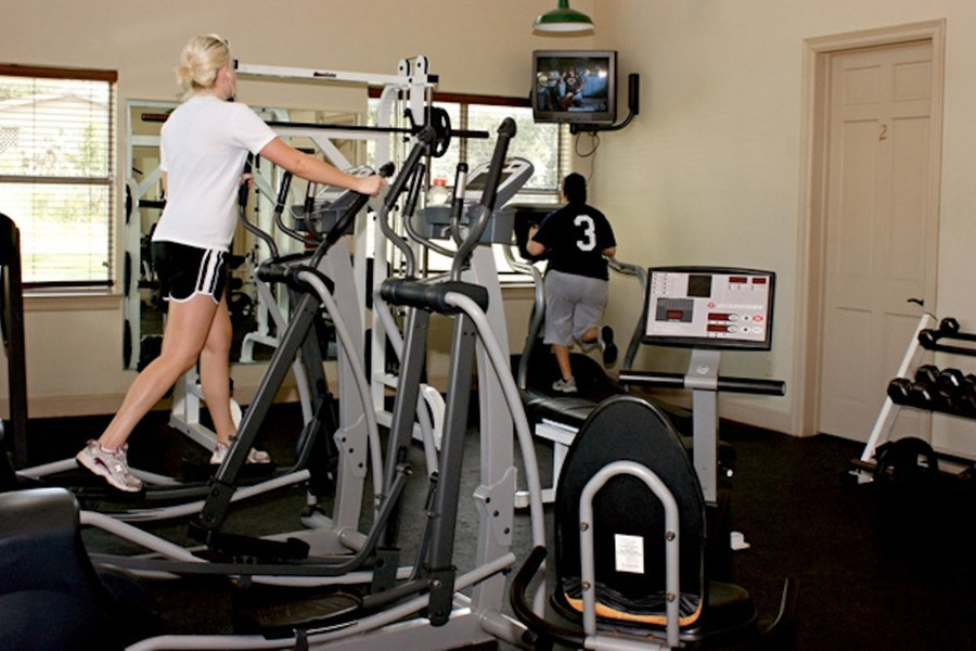 Large workout room equipment san marcos apartments