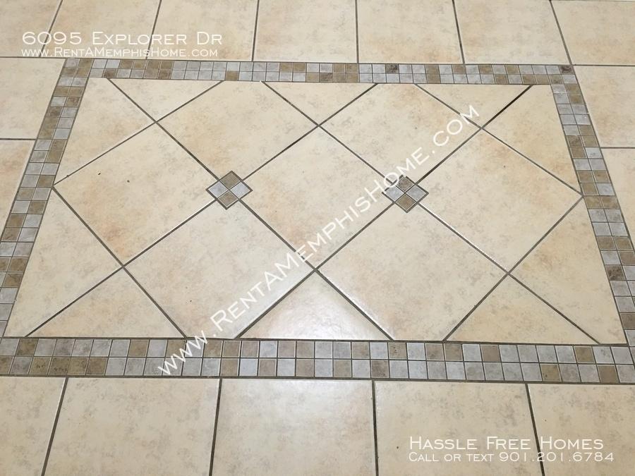 Tile in breakfast area