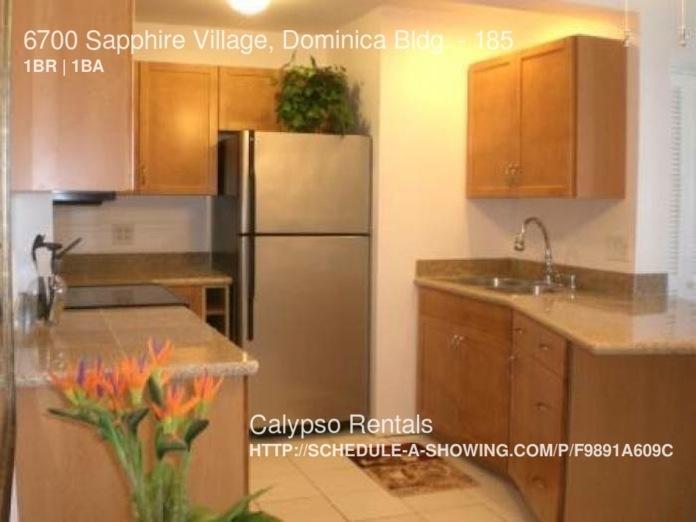 $1695 per month , 185 6700 Sapphire Village, Dominica Bldg.,