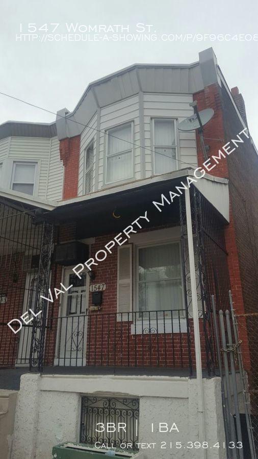 Townhouse for Rent in Philadelphia