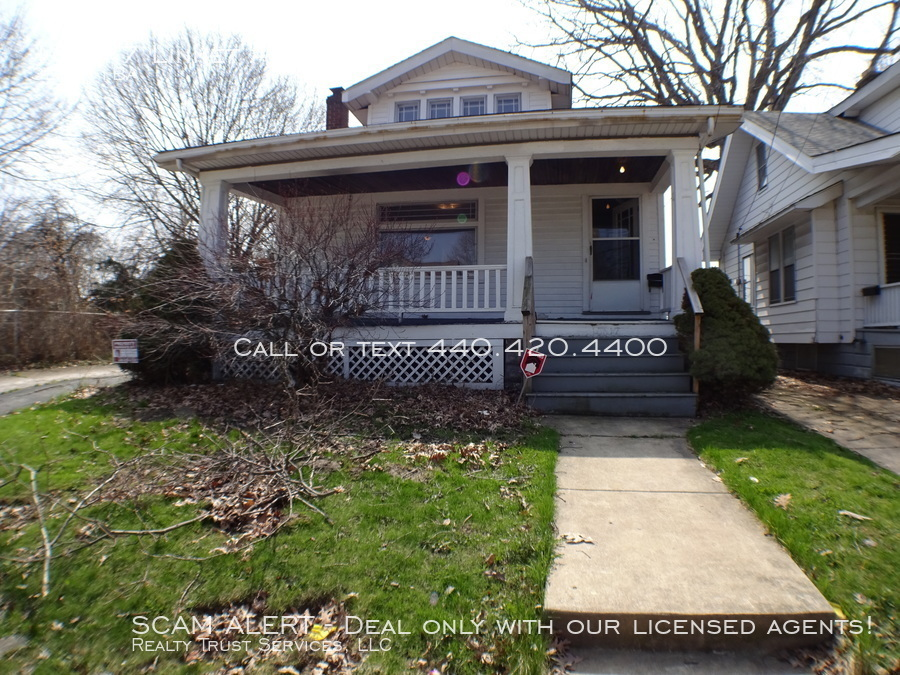 Lease option only! Front porch with swing, large rooms and fireplace!