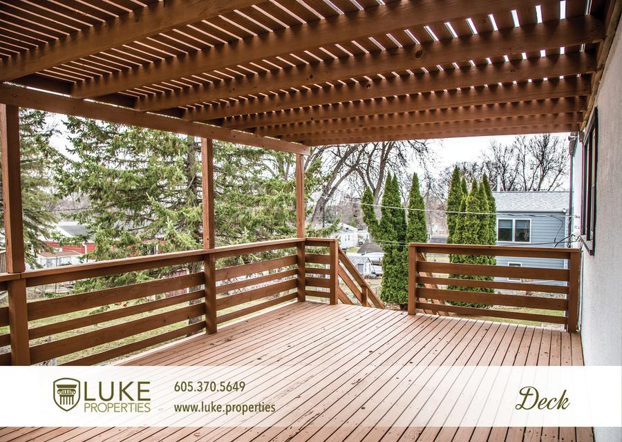 Luke properties 3621 e claudette dr sioux falls south dakota 57103 deck house for rent