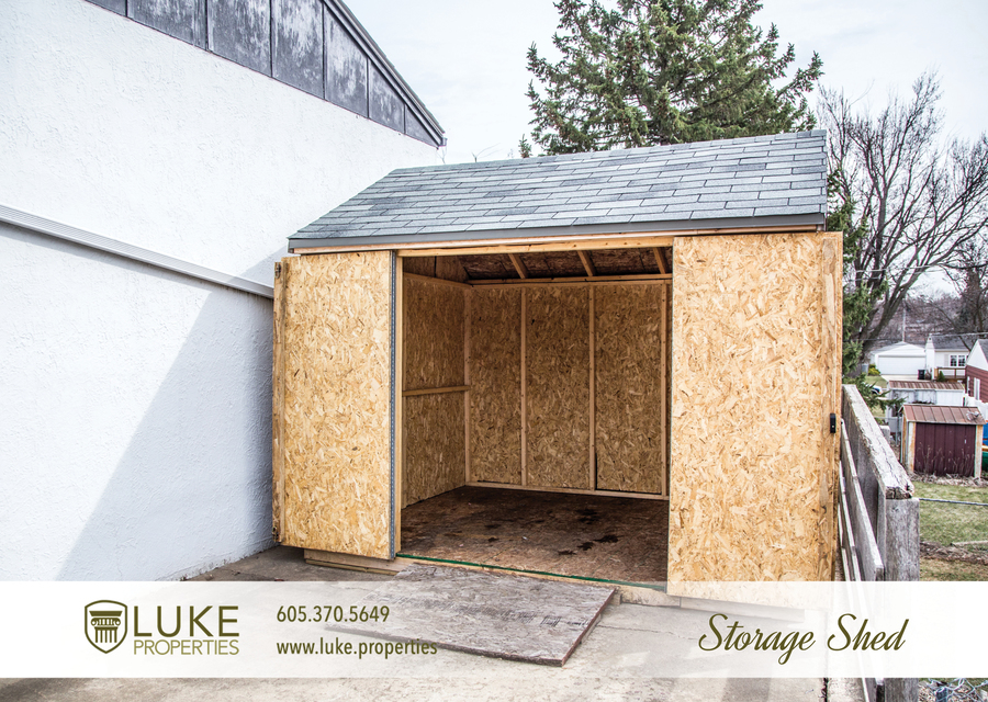 Luke properties 3621 e claudette dr sioux falls south dakota 57103 storage shed house for rent