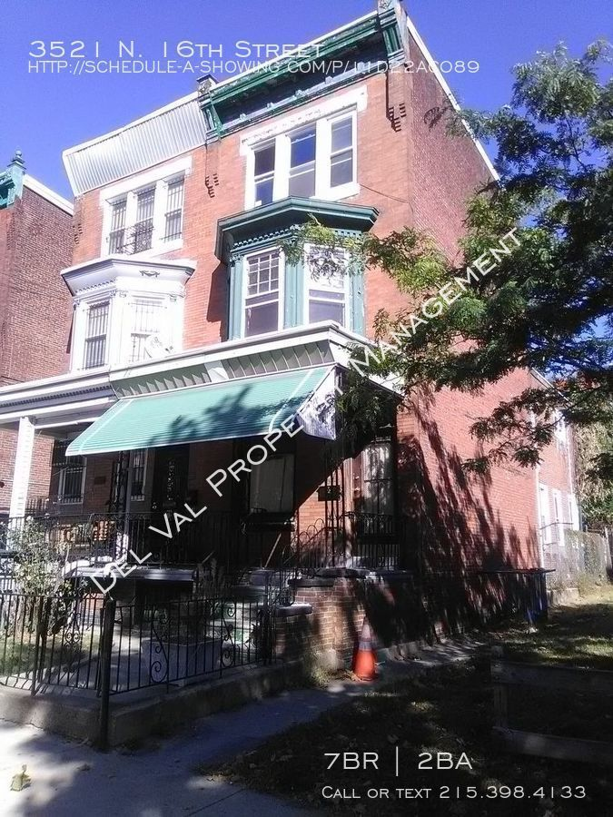 Spacious Row Home for Rent Now – 3521 N. 16th Street - Section 8 Welcome