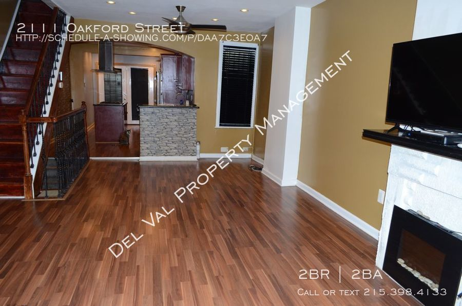 2111 Oakford Street Charming 2-Story Townhouse for Rent - 2111 Oakford Street - Point Breeze