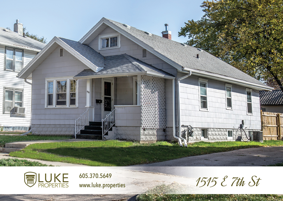 Luke properties 1515 e 7th sioux falls sd 57103 house for rent