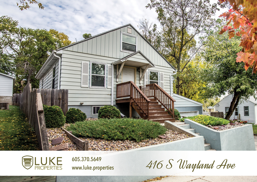 Luke properties 416 s wayland sioux falls sd 57103 house for rent