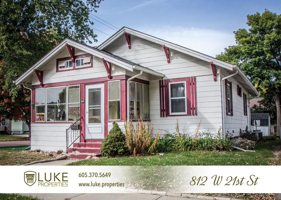 Luke properties 812 w 21st sioux falls sd 57105 house for rent