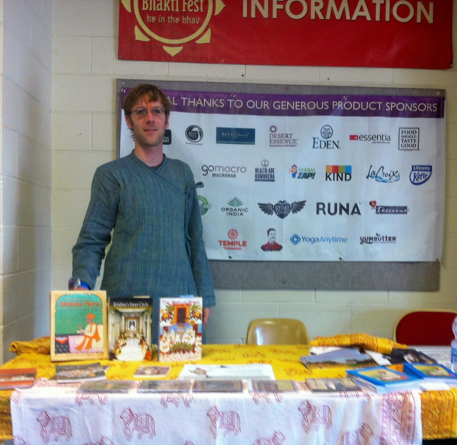 Bhaktifest Midwest 2015 Booth