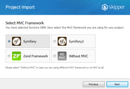 Skipper MVC framework import (Symfony, Zend)