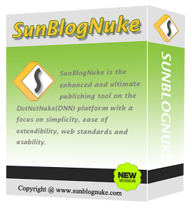 Ultimate DotNetNuke Blog Module - SunBlogNuke