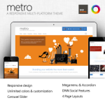 Metro Premium Skin // DNN or Sharepoint // Unlimited Colors // Responsive