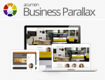 Acumen Business Parallax  Skin // Unlimited Colours // Bootstrap 3 // Responsive // Control Panel