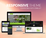 Responsive Theme BD001 Apple Green Real Estate / Business / Slider / MegaMenu / LeftMenu / Bootstrap