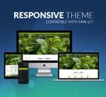 Responsive DNN Theme BD002 Green Garden / Business / Slider / Mega Menu / Side Menu / Parallax