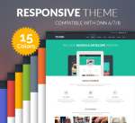 Justdnn Think Theme / 15 Colors / Responsive / Business / MegaMenu / Page Template / Mobile