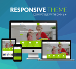Responsive Clean Theme BD007 Yellow Green / Business / Slider / Mobile / Parallax / DNN6/7/8/9