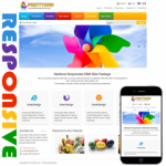 Rainbow V3 Responsive Skin / Colorful / Slider / Gallery / Bootstrap / Painting / Mobile / School