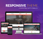 Responsive Theme BD008 Red / Business / Fitness / Sport / Slider / MegaMenu / Bootstrap / DNN6+