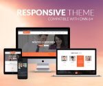 Responsive Theme BD001 Orange / Business / Slider / Mega Menu / Side Menu / DNN9