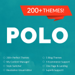 POLO / 200+ Themes / Revolution Visual Editor / My Content Manager / Style and Theme Switcher