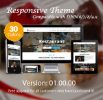 Restaurant(1.01) / 30 Colors / Mega Menu / Responsive / DNN 6.x, 7.x, 8.x & DNN 9.x