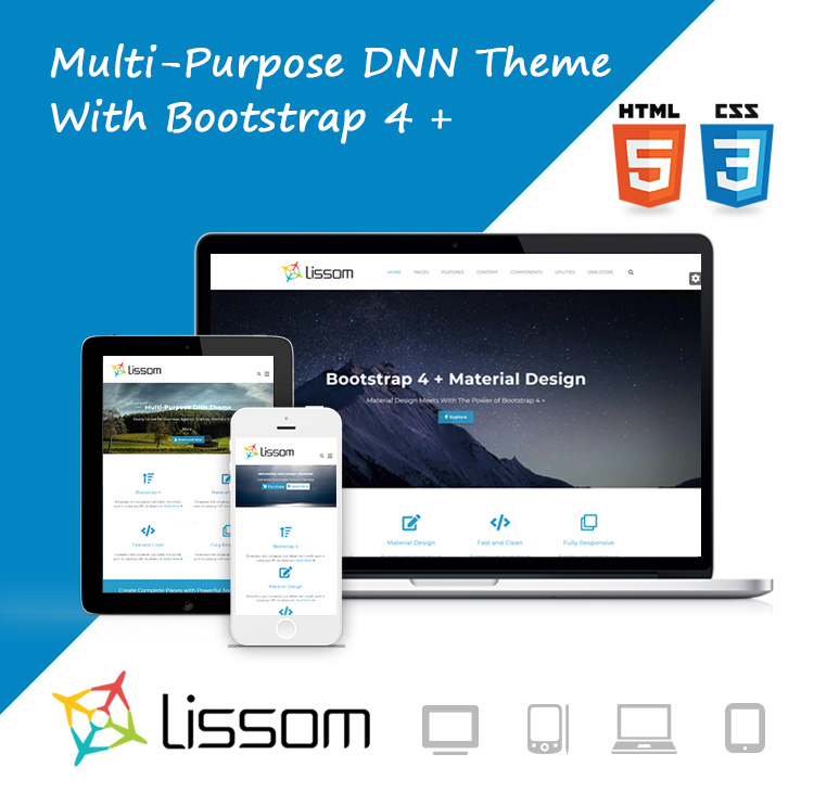 DNN Store > Home > Product Details > Lissom DNN Theme // Bootstrap 4