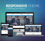 BD008 Blue Responsive Theme / Business / Mega / Clean/ Flat / Parallax / Mobile / DNN9