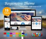 Responsive(1.03) / 15 Colors / Mega Menu / HTML5 / Parallax / Corporate / DNN 6.x, 7.x, 8.x & 9.x