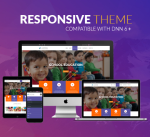 Kids Theme BD007 Purple  / Education / School / Student / Child / Mega Menu / Parallax / Slider