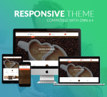 BD008 Brown Coffee Theme / Restaurant / Cafe / Shop / Food / Mega / Parallax / Bootstrap / DNN6+