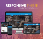 BD010 Blue Responsive DNN Theme / Business / Slider / Clean / Parallax / Side Menu / DNN6/7/8/9