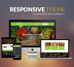 BD010 Yellow Green Organic Theme / Food / Fresh / Fruit / Restaurant / Slider / Parallax / DNN7/8/9